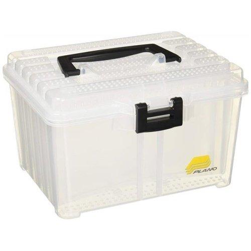 Frabill 350500 Plano Hydro-Flo Spinnerbait Box Stowaway with 3 Adjustable Racks, Clear