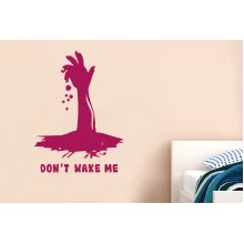 Dont Wake Me Wall Stickers Art Decals - Large (Height 67cm x Width 57cm) Violet