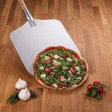 Blumtal Long Wooden Handle Pizza Peel, Shovel 12inch x 12inch, 33.5inch Long Pizza Paddle