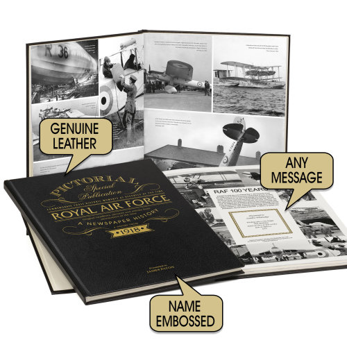 Personalised 100 Years of the RAF Pictorial Newspaper Book