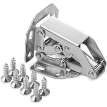 Set Of 8 Stainless Steel Closet Door Hinge, 105  44mm Invisible Hinge Furniture Door Corner 90 Degree With 64 Screws
