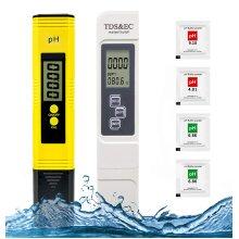 Litgrow PH Meter and TDS Meter Combo,Digital PH Meter Water Quality Tester 0.05ph High Accuracy Pen Type pH Meter