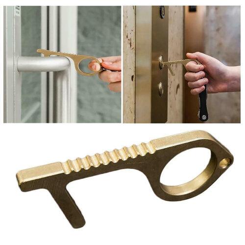 Contactless Door Opener Safe NO Touch Brass Key