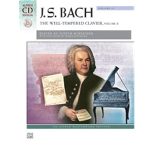 Alfred 00-41429 BACH-WELL TEMPERED CLAVIER 2-BK&2CD
