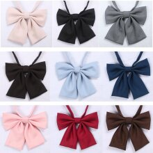 Jk Uniform Bow Tie Butterfly Cravat Solid Color School Suit For Girls