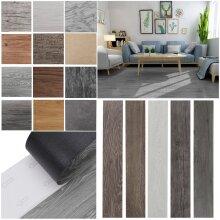 36Pcs Self-Adhesive PVC Flooring Planks Floorboard Wall Stickers