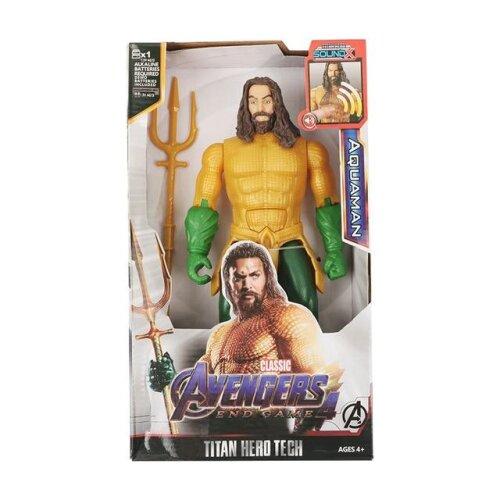 (Aquaman  with box) 12,,/30cm Marvel Avengers Venom Batman Flash Superman , Spiderman , Thanos Hulk Iron Man , Thor Wolverine Action Figure Toys for Kid