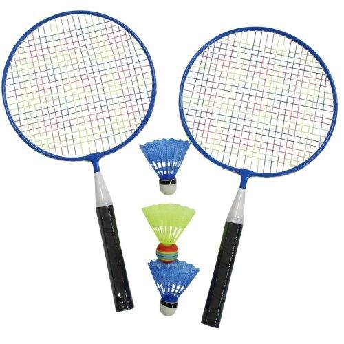 Badminton Set Of 2 Rackets & 3 Shuttlecocks & Carry Bag