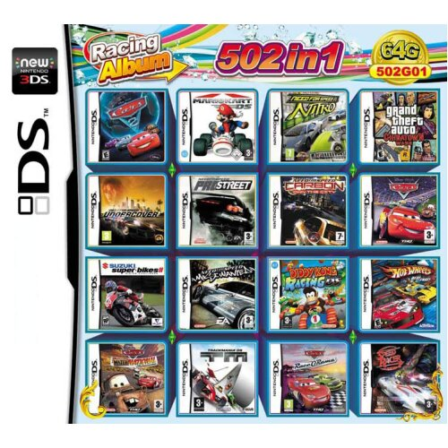 502 in 1 Video Games Cartridge Multicart for DS NDS NDSL NDSi 2DS 3DS