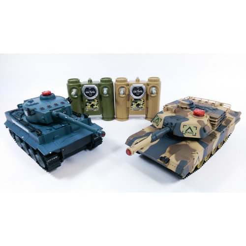 Pair Of infra Red Fighting Remote Controlled RC Battle Tank Kids Toys