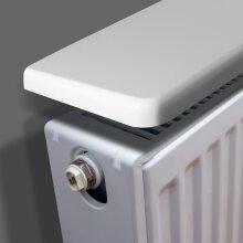 Matte White Radiator Shelves with Radiator Shelf Brackets (600x150x18mm)