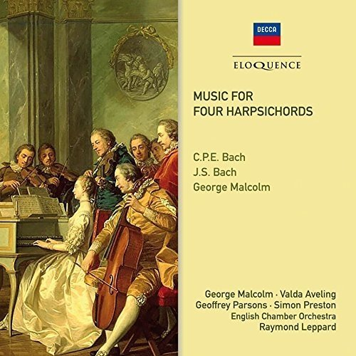 V Aveling, G Parsons, S Preston George Malcolm - Music for Four Harpsichords: Cpe Bach, Js Bach, G Malcolm [CD]