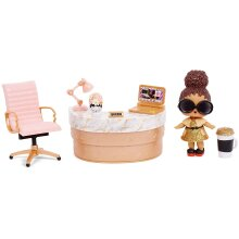 L.O.L. Surprise! Collectable Dolls for Girls - With 10 Surprises & Accessories - Boss Queen - Furniture Series 3