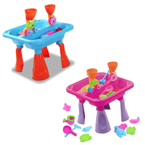 The Magic Toy Shop 23pc Sand & Water Table Set | Outdoor Play Table & Sand Toys