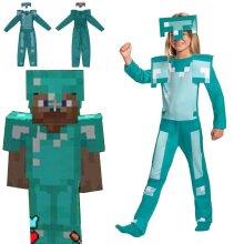 Minecraft Children's Cosplay Costume Dressup Diamond Set