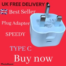 UK Plug PD 18W USB-C Type C Fast Wall Charger cable Adapter For iPhone