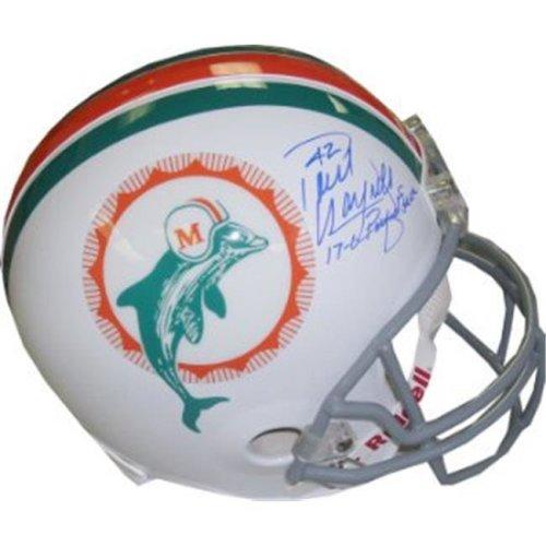 Athlon Sports CTBL-J14257 JSA Hologram CC09372 Paul Warfield Signed Miami Dolphins TB Full Size Rep Helmet with Dual 17-0 & Perfect Season