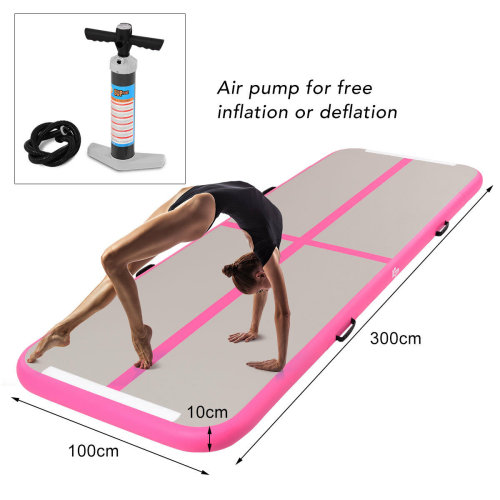 3 x 1M Inflatable Air Track Tumbling Gymnastic Mat Floor Home Training W/ Pump