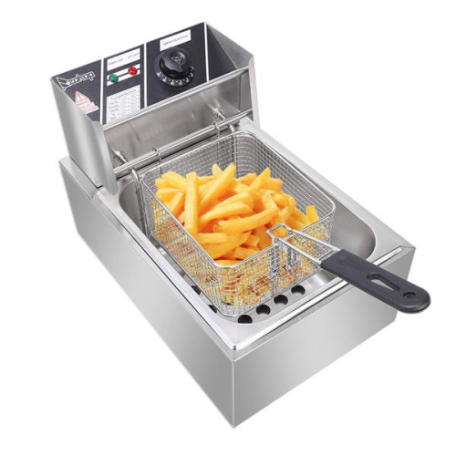 Stainless Steel Single Cylinder Electric Fryer Household Electric Fryer Easy Clean Cooking