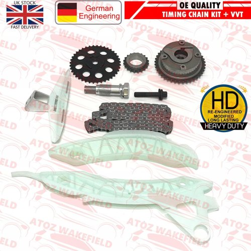 FOR BMW MINI COOPERS S 1.6 N14 B16A N14 B16C N14B16 TIMING CHAIN KIT + VVT GEAR