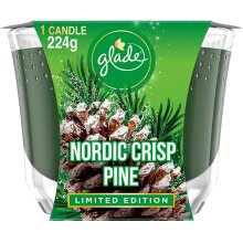 Glade Nordic Crisp Pine Large Candle 224g Limited Edition
