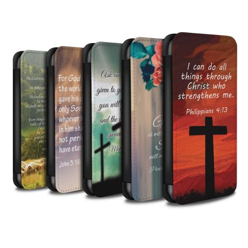 Christian Bible Verse Samsung Galaxy A20/A30 2019 Phone Case Wallet Flip Faux PU Leather Cover for Samsung Galaxy A20/A30 2019