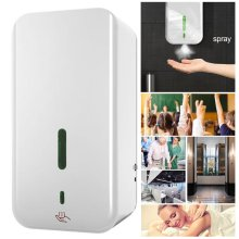 1500ML Automatic Wall-mounted Sensor Mist Spray Soap Dispenser Hand Disinfection
