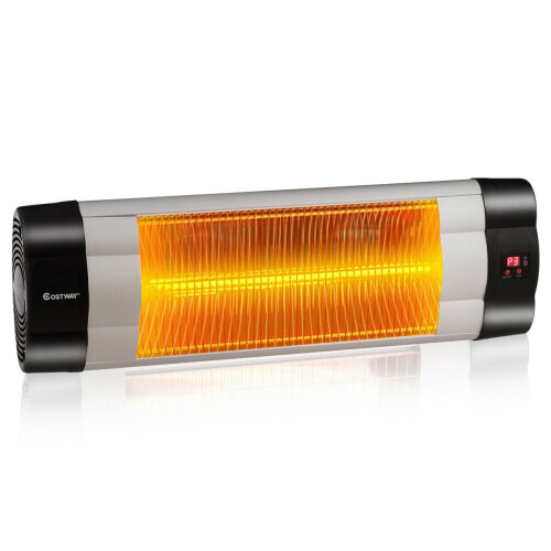 Wall-Mounted Electric Infrared Heater LED Display Patio Heater Remote Control