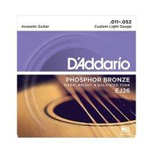 D'Addario EJ26 Phosphor Bronze Custom Light (.011-.052) Acoustic Guitar Strings