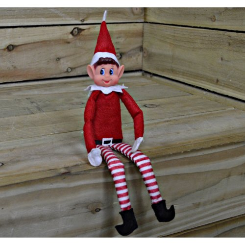 40cm Long Elf That Sits on the Tree or Shelf Felt / Plush With Vinyl Face