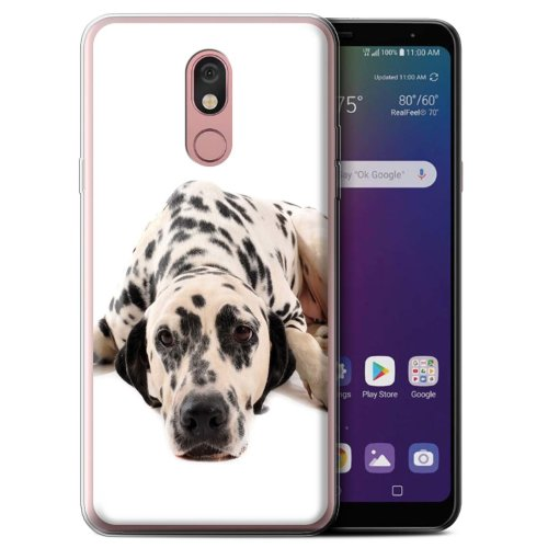 (Dalmatian) Dog Breeds LG Stylo 5 Phone Case Transparent Clear Ultra Soft Flexi Silicone Gel/TPU Bumper Cover for LG Stylo 5