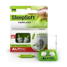 Alpine Sleepsoft Ear Plugs (2019) - Reduces Snoring and Improves Sleep - Soft Filters Designed for Sleeping - Comfortable Hypoallergenic Material -