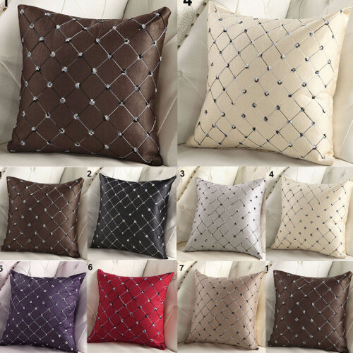 Square Luxury Diamond Scatter Cushion Cover Throw Pillow Case Sofa Home Decor