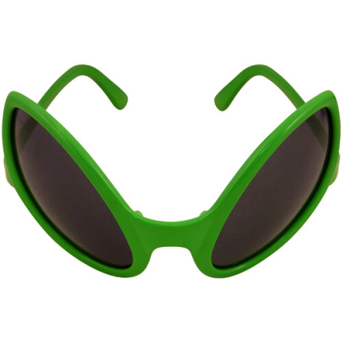 Adult Alien Dark Lens Green Glasses Fancy Party Novelty Accessory