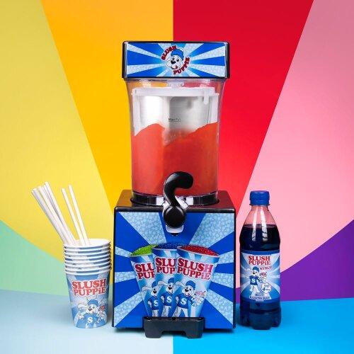 Slush Puppie Machine + Paper Cups + Blue Syrup