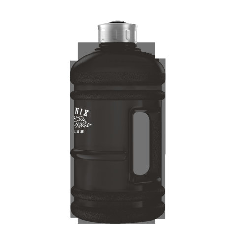 2L Drinks Bottle - Black Rubber