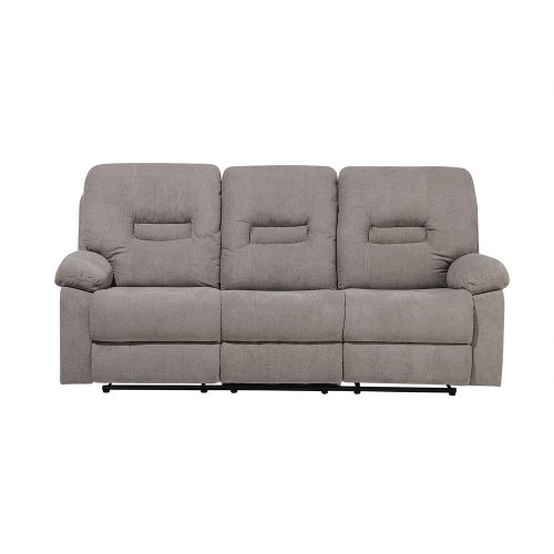 3 Seater Fabric Recliner Sofa Taupe Beige BERGEN