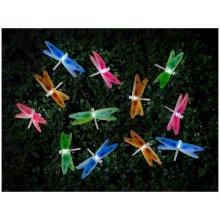 12 LED Solar Powered Fibre Optic Dragonfly Garden Outdoor Fairy String Lights