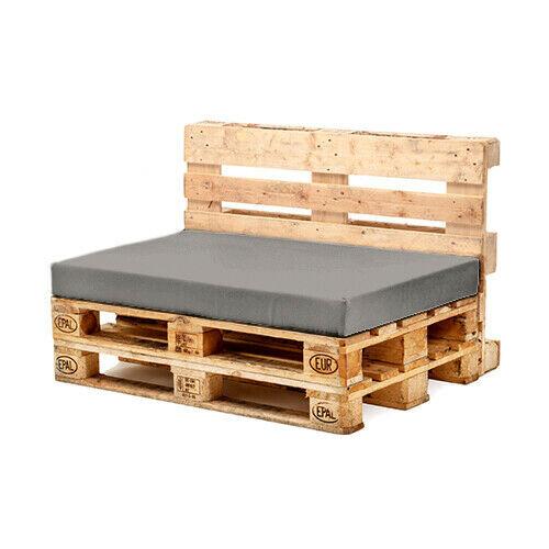 (Grey, Seat Pad) Pallet Garden Furniture Water Resistant Cushion Sets