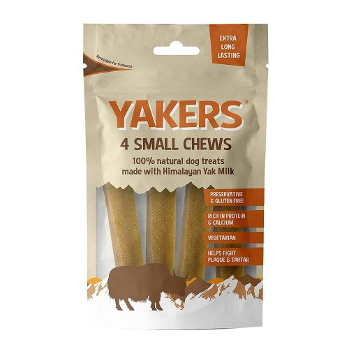 Yakers Small Dog Chews (Pack of 4)