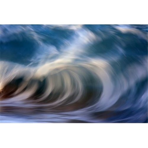 Ocean Wave Blurred by Motion - Hawaii United States of America Poster Print by Vince Cavataio, 19 x 12