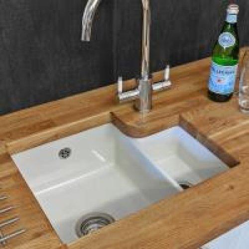 Tuscany under-mounted kitchen sink 1.5 bowl