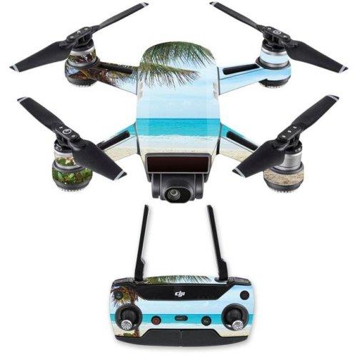 MightySkins DJSPCMB-Beach Bum Skin Decal for DJI Spark Mini Drone Combo Sticker - Beach Bum