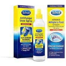 Scholl - Athletes Foot Cream 15g & Scholl Antifungal Spray 250ml