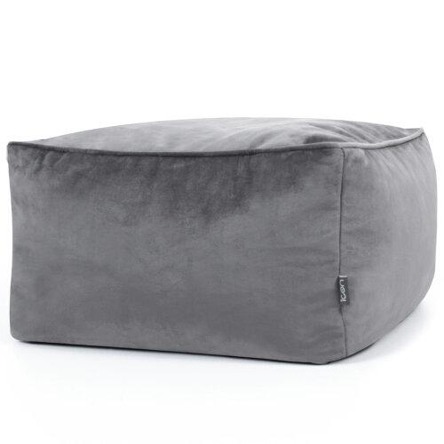 Square Velvet Pouffe Bean Bag Footstool