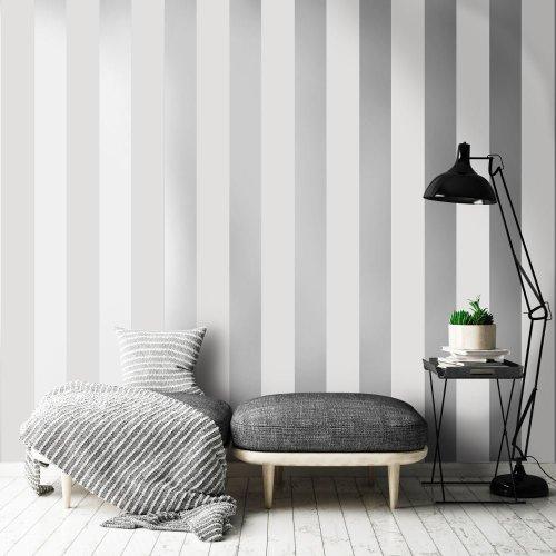 Holden Shimmering Stripe Pattern Wallpaper Metallic Striped Motif 50070