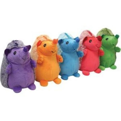 Multipet International 250304 8 in. Hedgehog Plush Dog Toy, Assorted Color