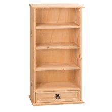 Mercers Furniture Corona 1-Drawer Bookcase and DVD Storage Rack - Pine