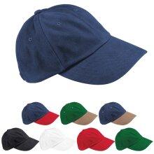 Beechfield Low Profile Curved Peak Brushed Cotton Adjustable Baseball Cap Hat