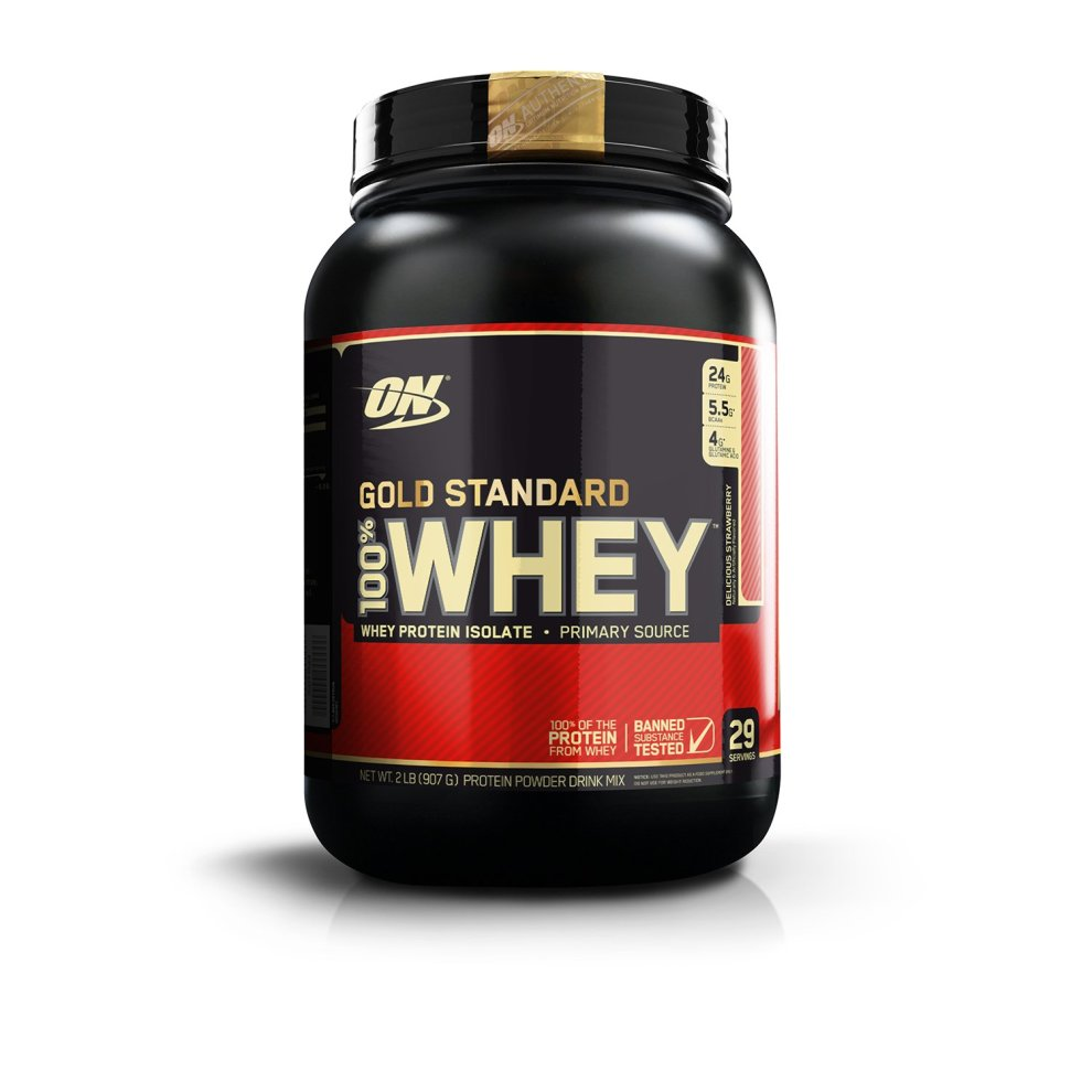 Optimum Nutrition Gold Standard 100% Whey Protein Powder - 908 g, Strawberry